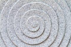 Granit sniden spiral modell Arkivfoto