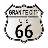 Granit-Stadt Route 66 lizenzfreie abbildung