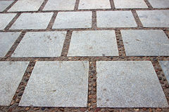Granit-Steinpflasterungs-Muster Stockfotos