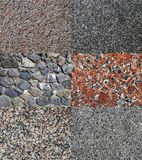 granit tekstury okrzesane surowe ustalone Zdjęcie Royalty Free