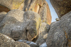 Granit vaggar abstrakt begrepp från Vedauwoo rekreationsområde Fotografering för Bildbyråer