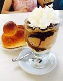 Granita με τον καφέ και τα φουντούκια Στοκ Εικόνες