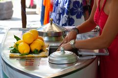 Granita del limón en Positano imágenes de archivo libres de regalías