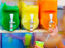 Granita machine, refreshment for the thirst of the hot months Stock Image