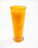 Granita slush mango. Cup of granita mango Royalty Free Stock Images
