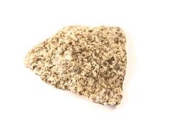 Granite. Macro shot of granite stone isolated over white background Stock Photo