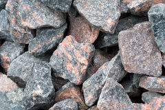 Granite. Pieces of a granite of various color are used for construction Stock Images