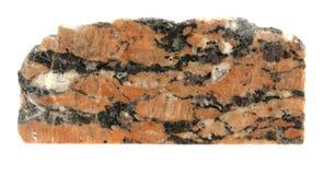 Granite. Mineral granite isolated on white stock photo