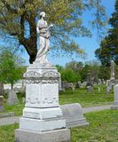 Granite angel cemetery monument Stock Photography