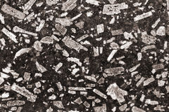 Granite basalt mineral background. speckled stone closeup texture Stock Photos