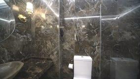 The granite bathroom of a five-star hotel in Kranevo, Bulgaria stock footage