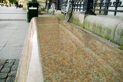 Granite bench Stock Photo