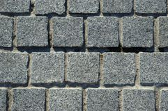 Granite block pavement background Royalty Free Stock Images