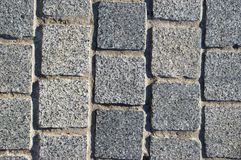 Granite block pavement background Stock Photography