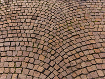 Granite block street pavers Royalty Free Stock Photos