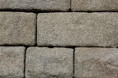 Granite blocks of ancient Roman aqueduct Stock Photography
