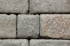Granite blocks of ancient Roman aqueduct Royalty Free Stock Photos