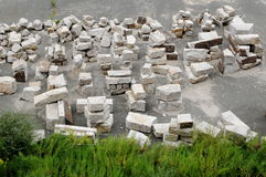 Granite blocks for construction Stock Photo