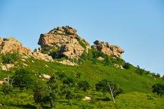 The granite boulder Stock Images