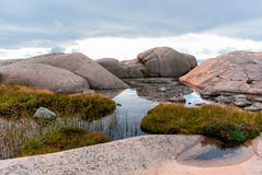 Granite boulders Stock Image