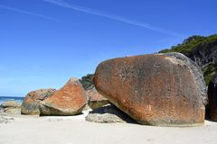 Granite boulders. Stock Image