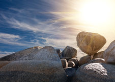 Granite boulders Stock Photo