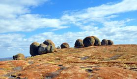 Granite Boulders, Matobos National Park, Zimbabwe. Huge granite boulders at World's View in the Matobos National Park, Zimbabwe stock photography