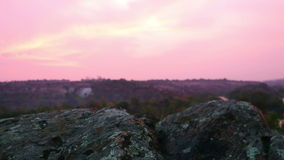 Granite Boulders before Sunrise stock footage