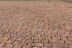 Granite brick road natural stone Stock Photo