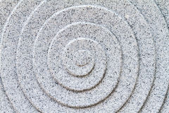 Granite carved spiral pattern Stock Photo