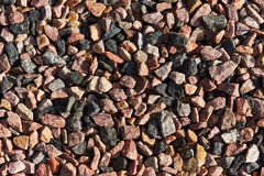 Granite chippings used as substrates. Red, gray and black granite chippings used as substrates Royalty Free Stock Photography
