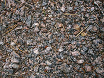 Granite chips and sprinkled crushed stone Stock Photo