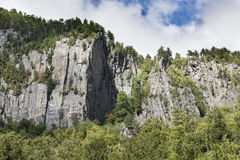 Granite Cliffs of the Adirondack Mountains Royalty Free Stock Images