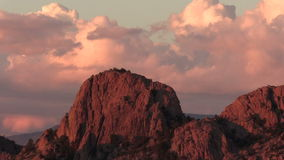 Granite Cliffs at Sunset stock footage
