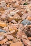 Granite. Close-up shot of red granite rocks stock images