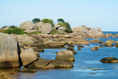 Granite coast rocks royalty free stock photo
