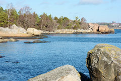 Granite coastline Stock Image