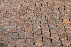 Granite cobble stoned pavement Stock Image