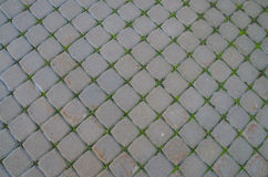 Granite cobblestone pavement background Stock Photo