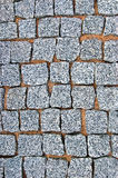 Granite Cobblestone Pavement Texture Background Large Detailed Vertical Stone Block Paving Rough Cut Textured Grey Pattern Closeup Stock Photos