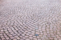 Granite cobblestone road pavement Stock Photo