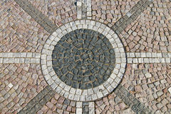 Granite cobblestoned pavement background Royalty Free Stock Photos