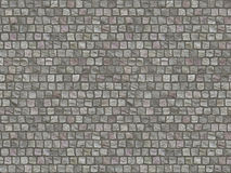 Granite cobblestoned pavement background. road Stock Photo