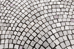 Granite cobblestoned pavement background Stock Photo