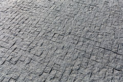 Granite cobblestoned pavement Royalty Free Stock Photo