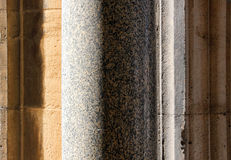 Granite column and stone blocks Royalty Free Stock Photo