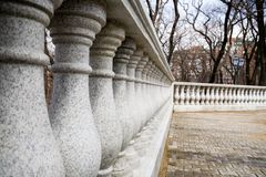 Granite columns.park Stock Photography