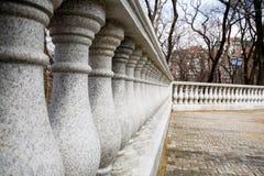 Granite columns.park. Granite classical columns.park.spring Stock Photography