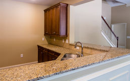 Granite Countertop in New Kitchen Royalty Free Stock Image