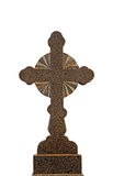 Granite cross isolated Stock Images